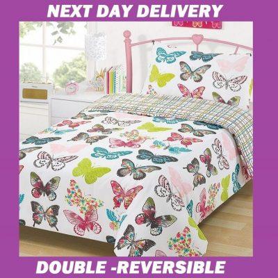 Butterfly Duvet Double Cover Quilt Doona Bedding Set