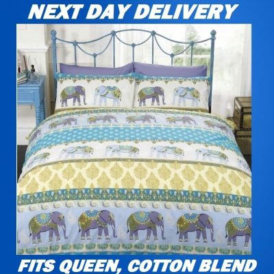 Jaipur Elephant Queen Kids Licensed Quilt Duvet Bedding Cover Sets