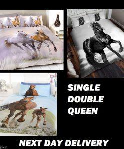 Horse Pony Quilt Duvet Bedding Cover Sets