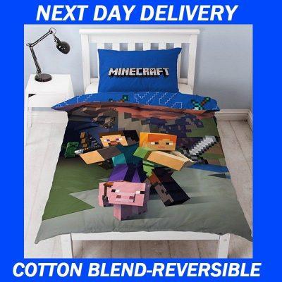 Minecraft Kids Licensed Quilt Duvet Bedding Cover Sets