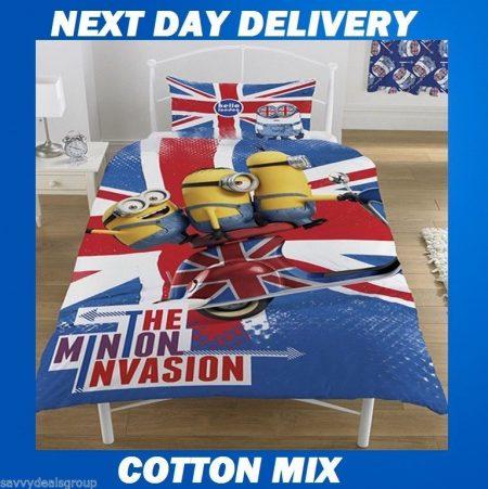 Minion Invasion Despicable Kids Licensed Quilt Duvet Bedding Cover Sets
