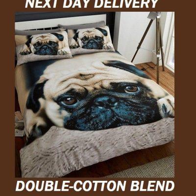 Pug Puppy Pooch Quilt Duvet Doona Bedding Cover