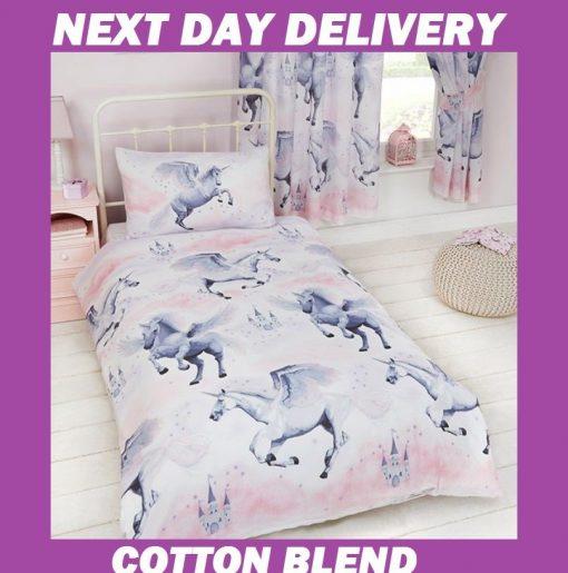 Stardust Unicorn Single Kids Licensed Quilt Duvet Bedding Cover Sets