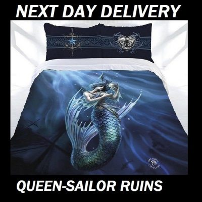 Anne Stokes Sailor Ruins Queen Doona Cover Set Duvet Quilt
