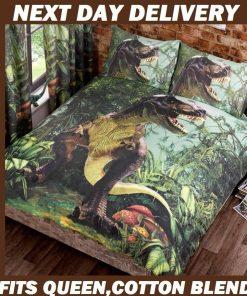 Jurassic T-rex Dinosaur Quilt