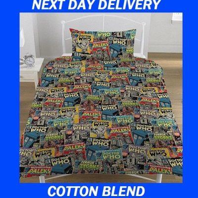 Doctor Who Tardis Duvet Single Quilt Doona Bedding Cover Set