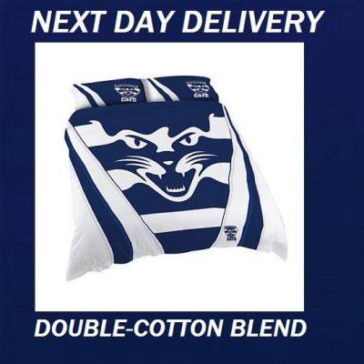 Geelong Cats AFL Double Cotton Blend Duvet Quilt Doona Cover Set