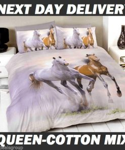 Galloping Horses Queen Kids Licensed Quilt Duvet Bedding Cover Sets