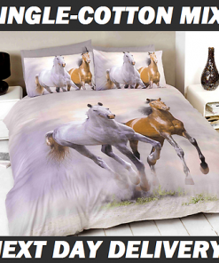 Galloping Horses Kids Quilt