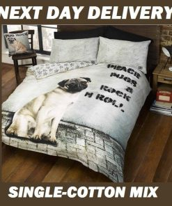 Pug Kids Quilt Cover
