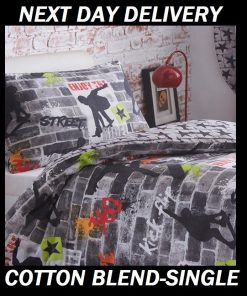 Skateboard Graffiti Quilt Cover
