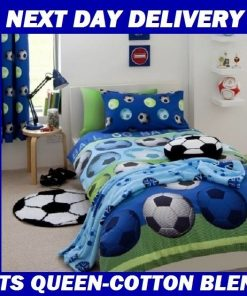 Boys Soccer Football Quilt
