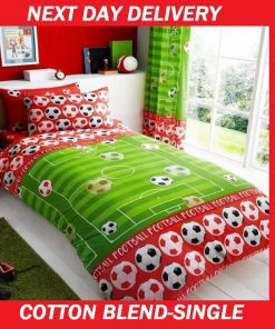 Boys Soccer Football Single Doona Quilt Duvet Cover