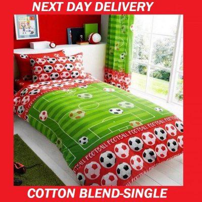 Boys Soccer Football Single Doona Quilt Duvet Cover