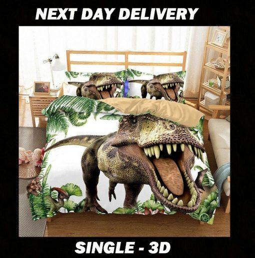 Dinosaur 3D Single Quilt