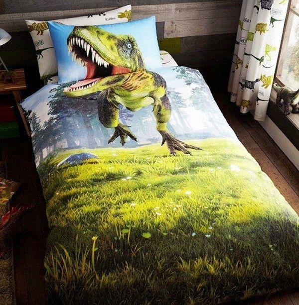 Dinosaur Jurassic Single Quilt Cover Set Reversible