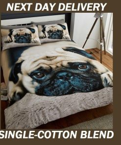 Pug Puppy Pooch Dog Pup Single Doona Duvet Quilt Cover