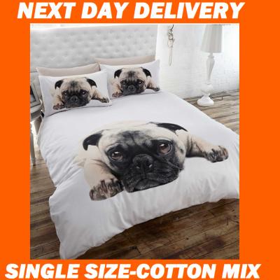 Pug Pooch Dog Single Kids Licensed Duvet Bedding Cover Sets