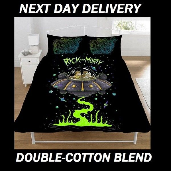 Rick And Morty Double Doona Duvet Quilt Cover Pillowcase