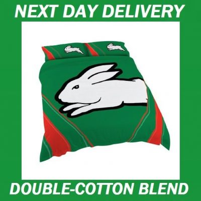 Sydney Rabbitohs Licensed NRL Quilt Duvet Doona Bedding Cover Sets