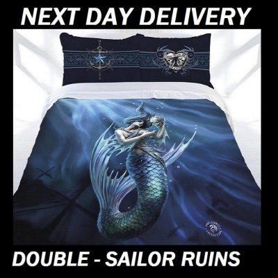 Anne Stokes Sailor Ruins Double Doona Cover Set Duvet Quilt