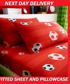 Boys Soccer Football Pillowcase