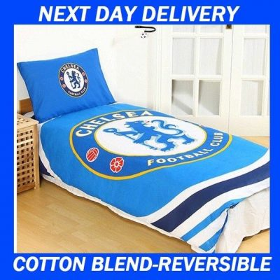 Chelsea Football Club Licensed Quilt Duvet Doona Bedding Cover Sets