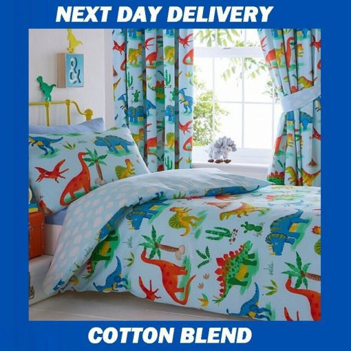 Dinosaur Single Quilt Cover set, Boys