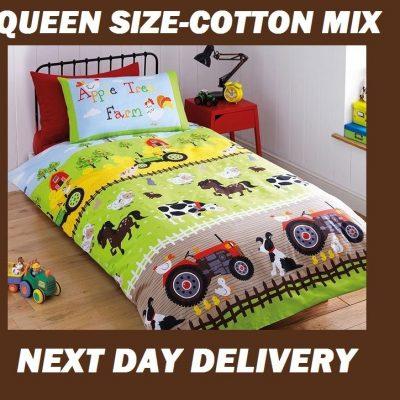 Farm Animals Queen Duvet Quilt Bedding Cover Set
