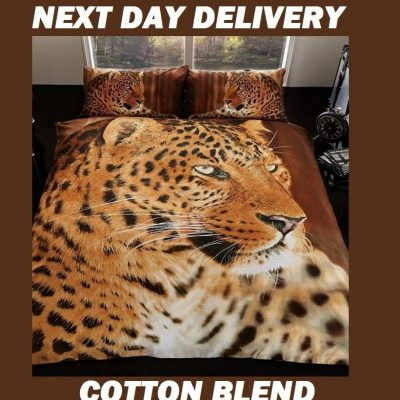 Leopard Animal Print Kids Licensed Quilt Duvet Bedding Cover Sets