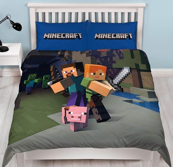 Kids Minecraft Quilt Cover Set Reversible Savvy Deals