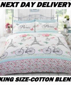 Paris Eiffel Tower King Kids Licensed Duvet Bedding Cover Sets