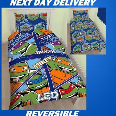 Teenage Mutant Ninja Dudes Kids Licensed QuiltDuvet Bedding CoverSets