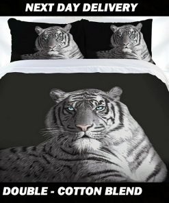 Tiger Double Quilt Cover Set, Cotton Blend