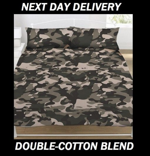 Army Camouflage Quilt Cover