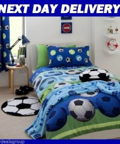 Soccer Football Kids Licensed Quilt Duvet Bedding Cover Sets