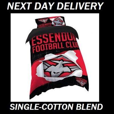 Essendon Bombers Single Quilt Doona Duvet Bedding Cover Set