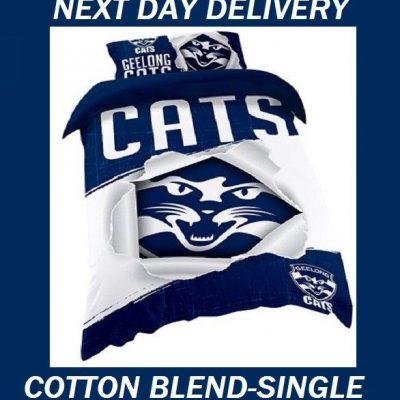 Geelong Cats AFL Licensed Quilt Duvet Doona Bedding