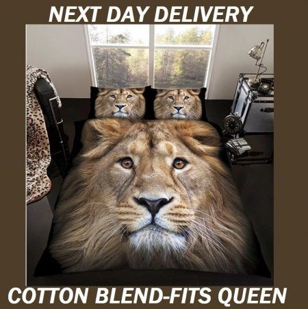 Lion Animal Safari Kids Licensed Quilt Duvet Bedding Cover Sets