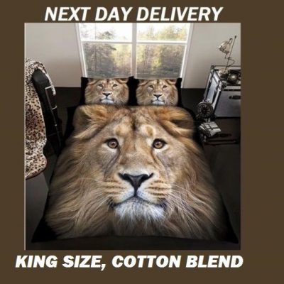 Lion Animals King Kids Licensed Quilt Duvet Bedding Cover Sets