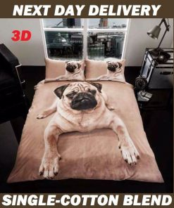 Pug Puppy Pooch Dog Kids Licensed Duvet Bedding Cover Sets