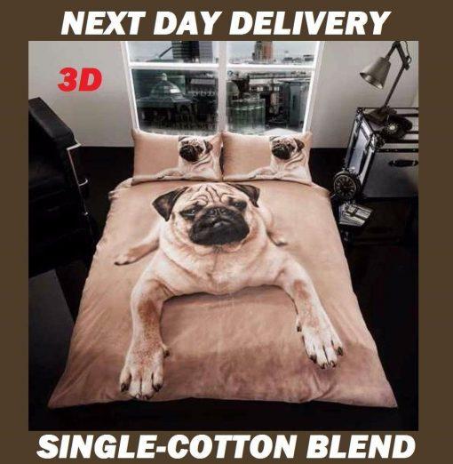 Pug Puppy Pooch Dog Kids Licensed Duvet Bedding Cover Sets