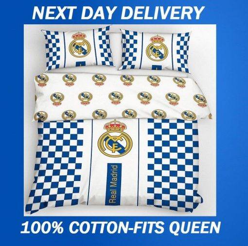 Real Madrid Football Club Fits Queen Duvet Doona Quilt Bedding Cover