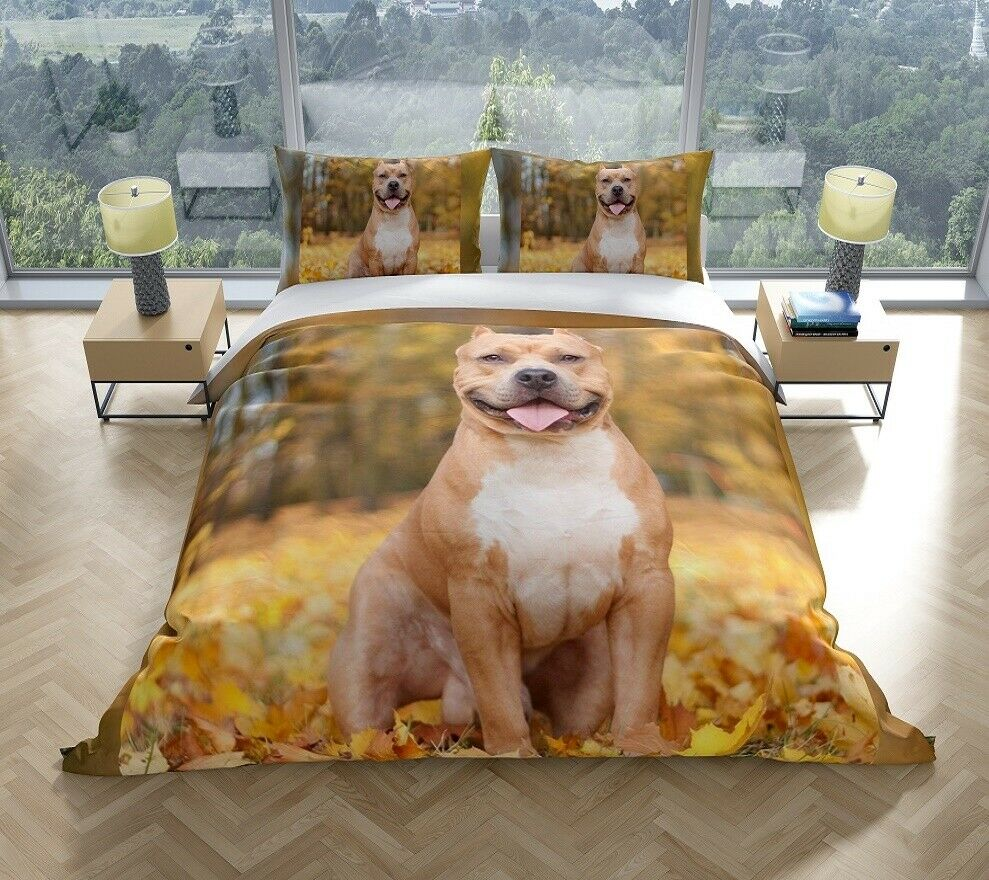 Staffy Staffordshire Dog King Quilt Cover Set Savvy