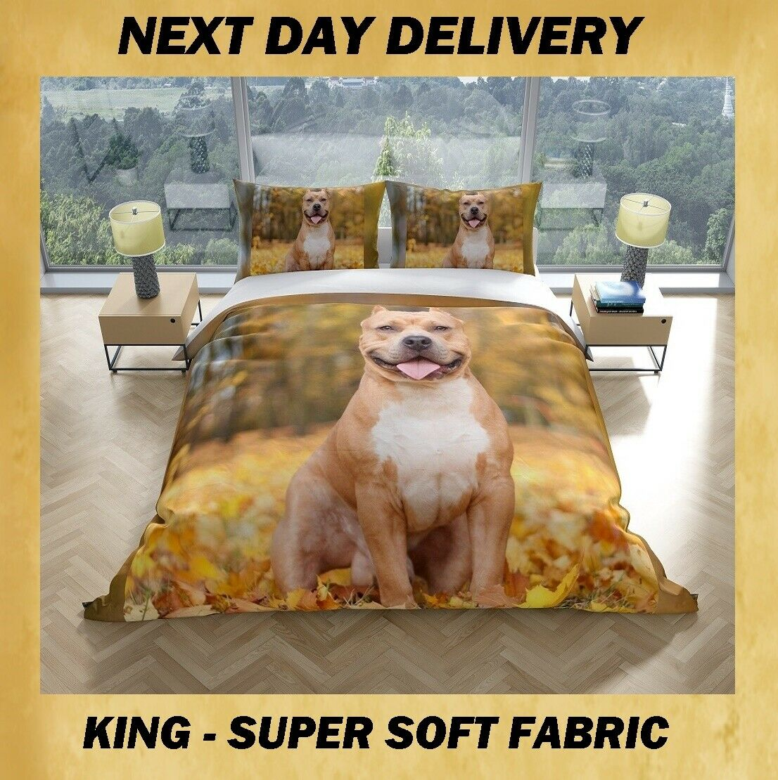 Dog King Quilt Cover
