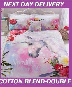 Unicorn Double Quilt Cover