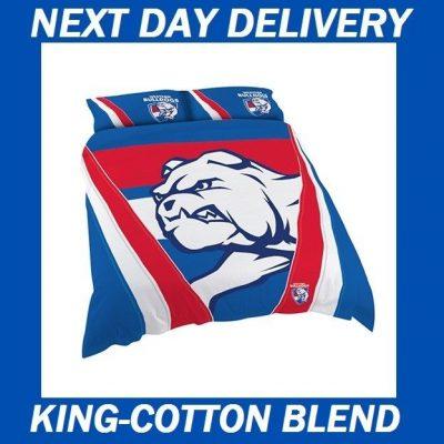 Western Bulldogs Licensed AFL Quilt Duvet Doona Bedding Cover Sets