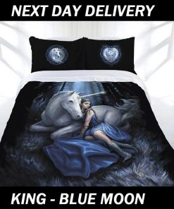 Anne Stokes Blue Moon King Doona Cover Set Duvet Quilt