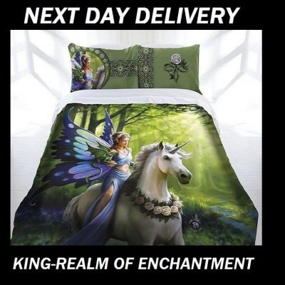 Anne Stokes Realm of Enchantment King Doona Cover Set Duvet