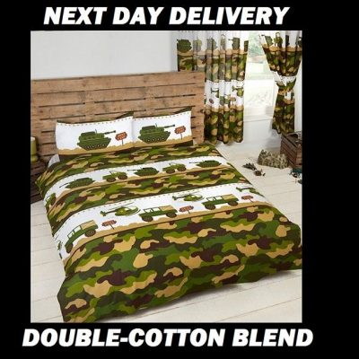 Army Camouflage Double Kids Licensed Quilt Duvet Bedding Cover Sets